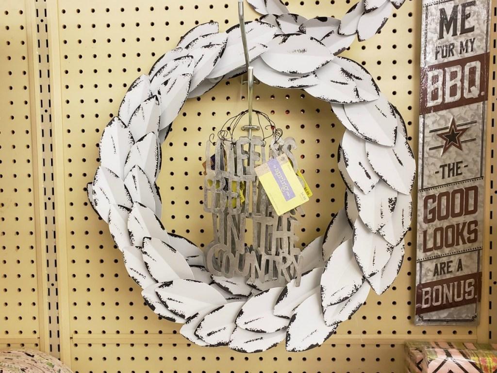 Rustic Metal Wreath