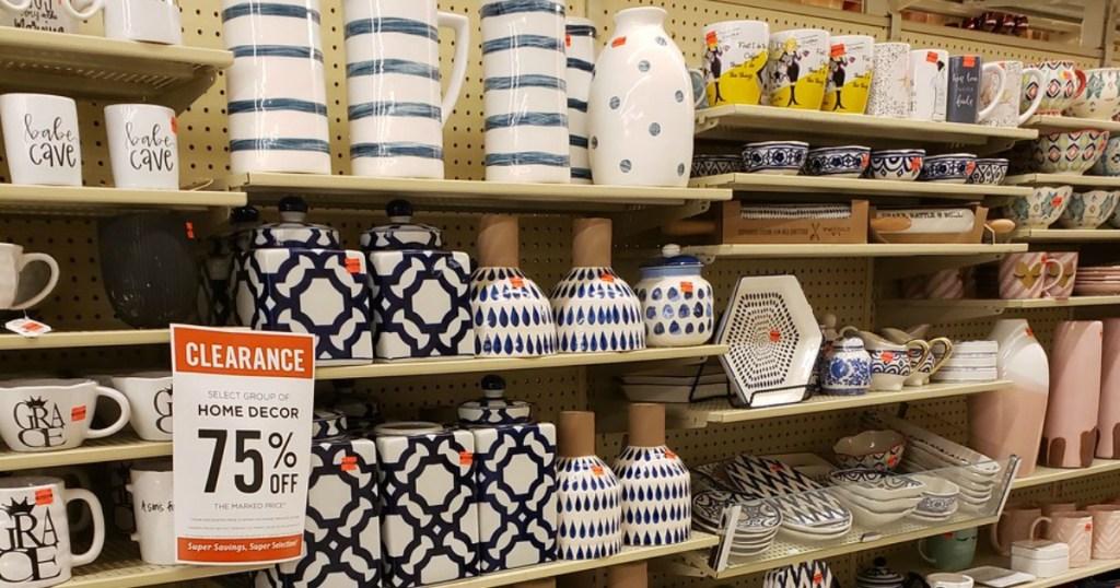 Hobby Lobby Blue Ikat Decor on Store shelves