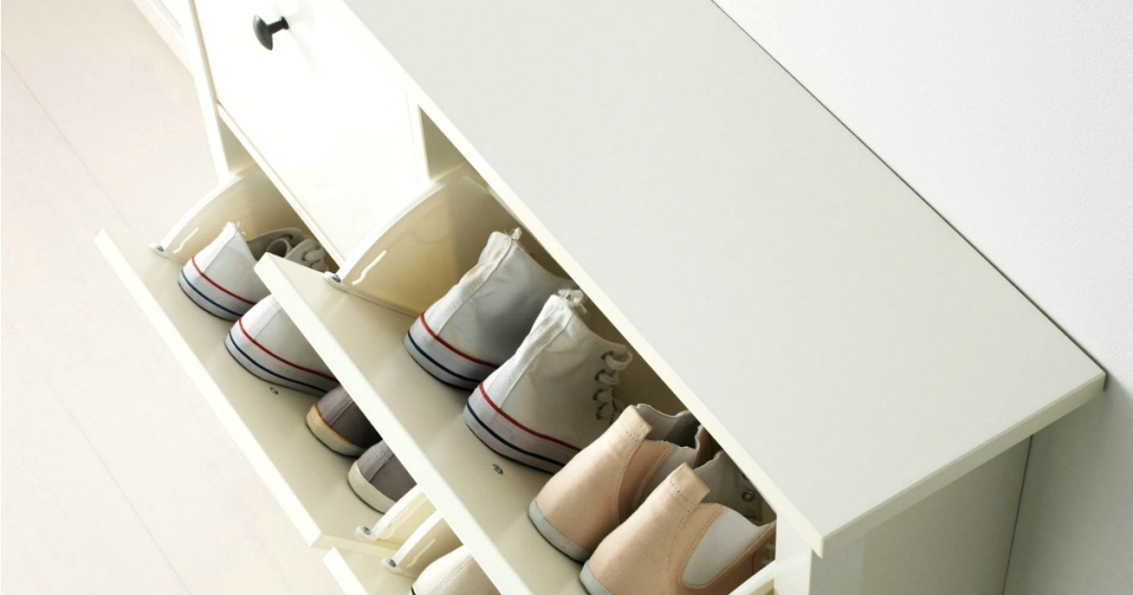 IKEA shoe holder table