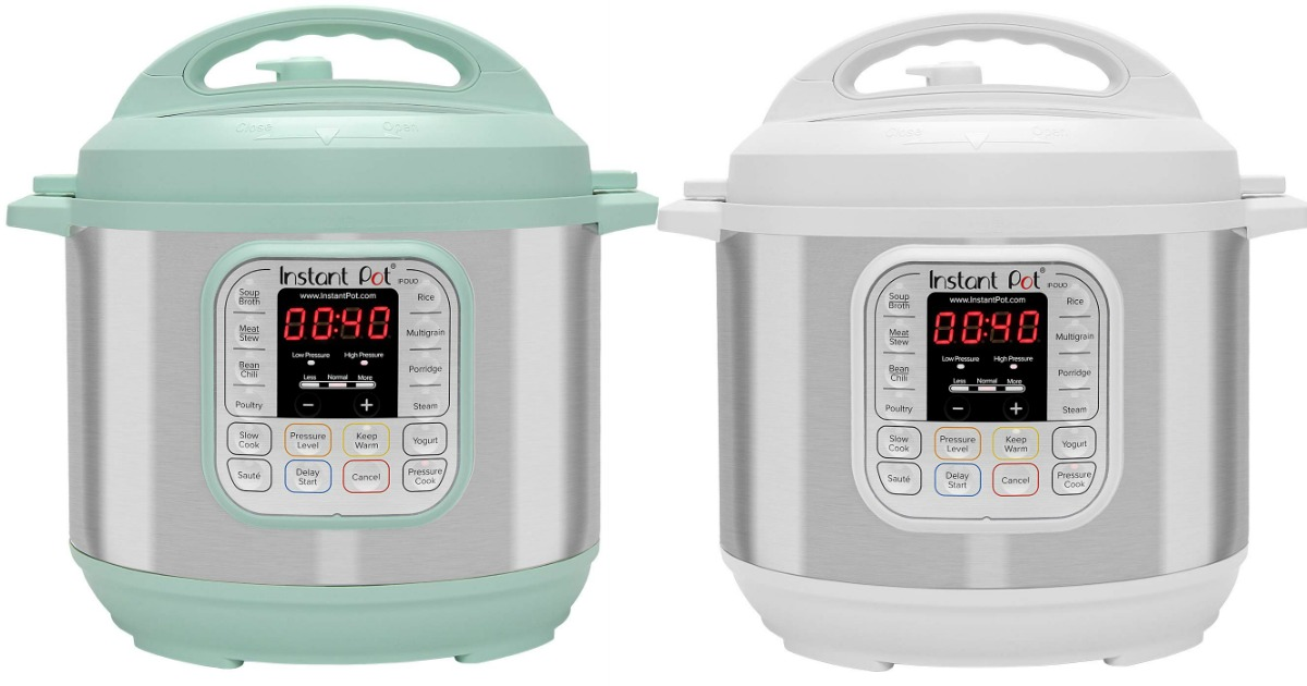 teal and white instant pot duos