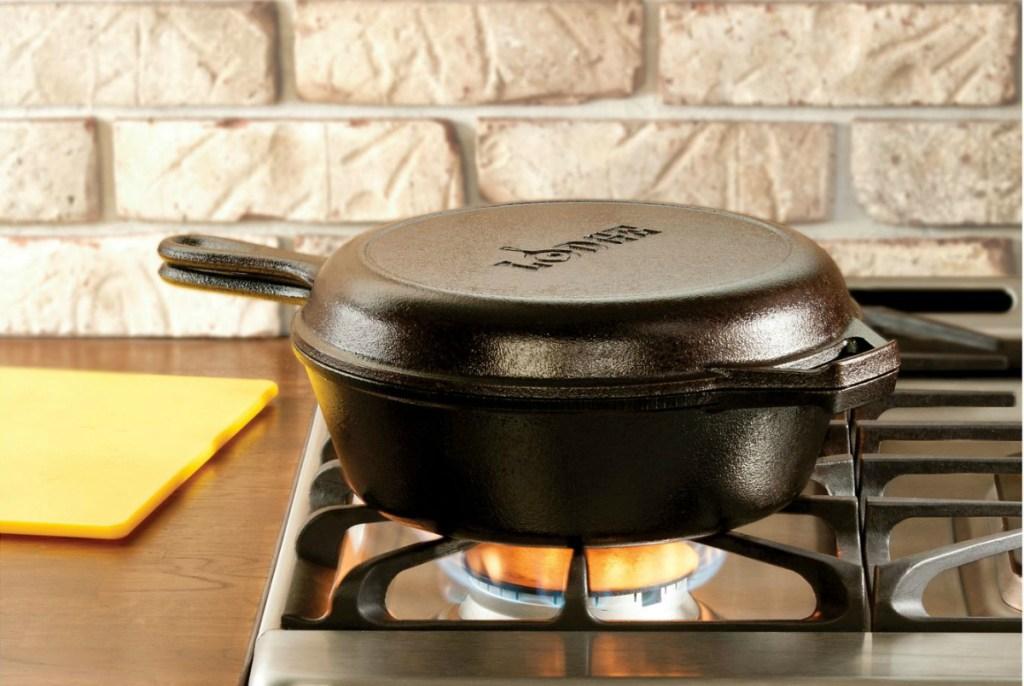 Lodge 3.2qt Cast Iron Combo Cooker