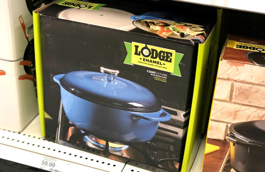 Blue Lodge Enamel Cast Iron Dutch Oven