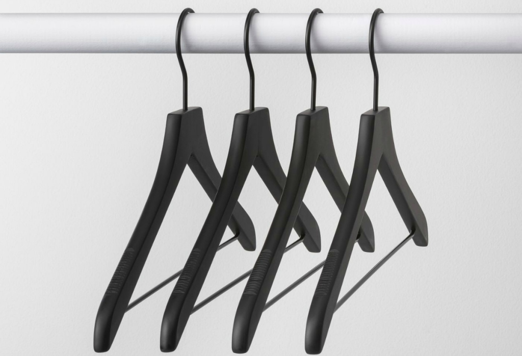 Made by Design wood black hangers
