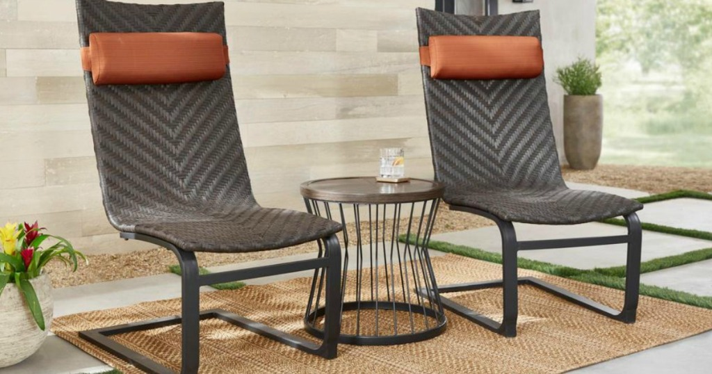 Modern wicker 3-piece patio set