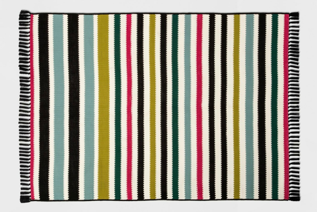 Opalhouse Colorful Multi Stripe Outdoor Rug