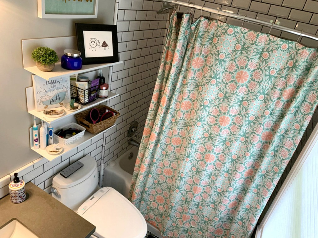 Opalhouse Medallion Print with Pom Fringe Shower Curtain