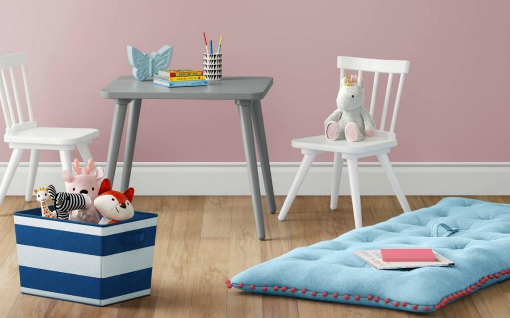 Pillowfort Kids Lounge Mat with Pom Poms