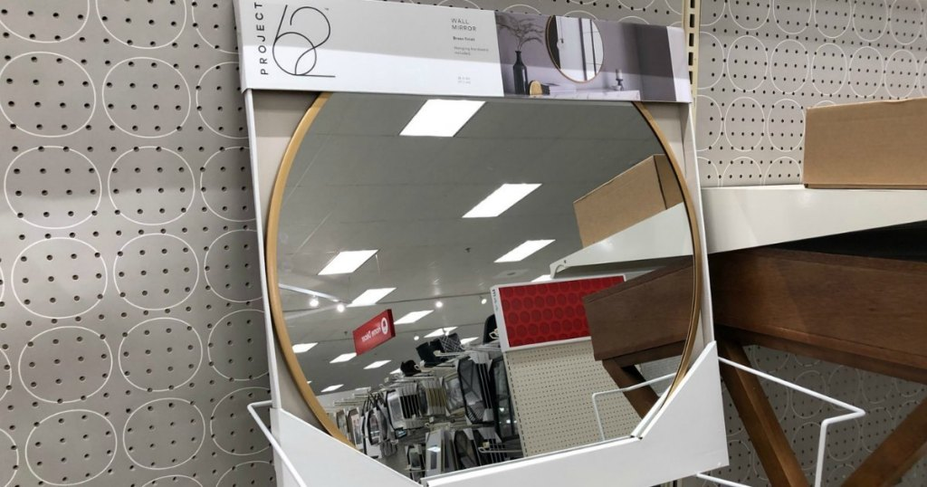 Porject 62 wall mirror on shelf at Target