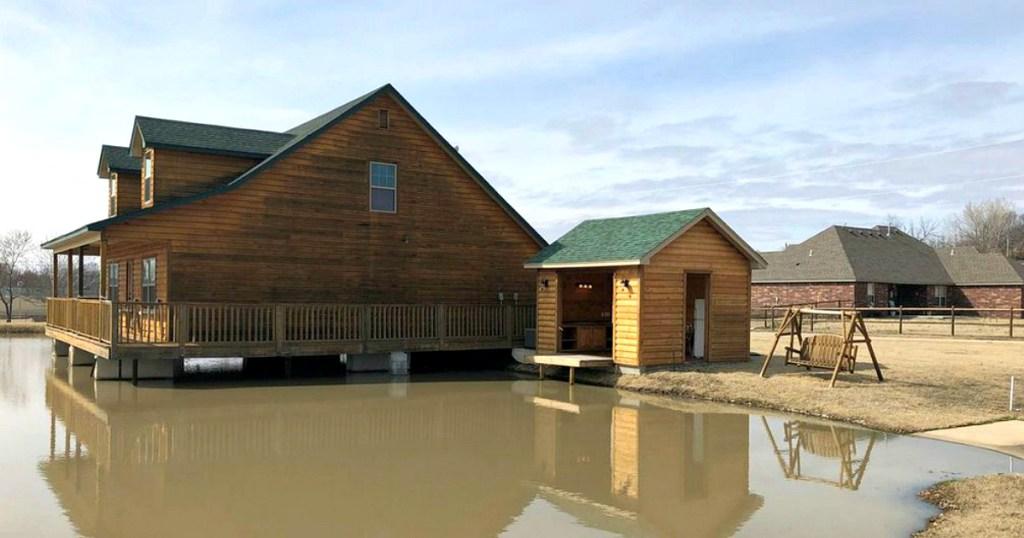 Skiatook house on pond