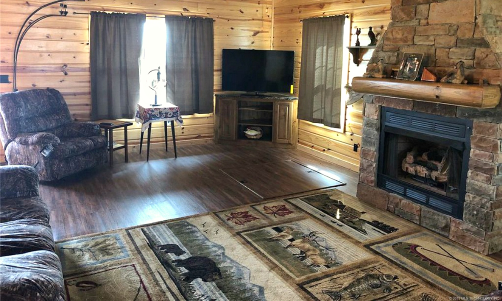 Skiatook living room on pond