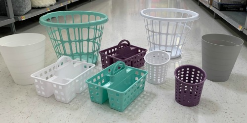 These Storage Bins are Available in Trendy Colors & Cost Less than Dollar Tree