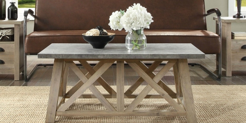 Farmhouse Coffee Table $80 Shipped & More Furniture Clearance Deals