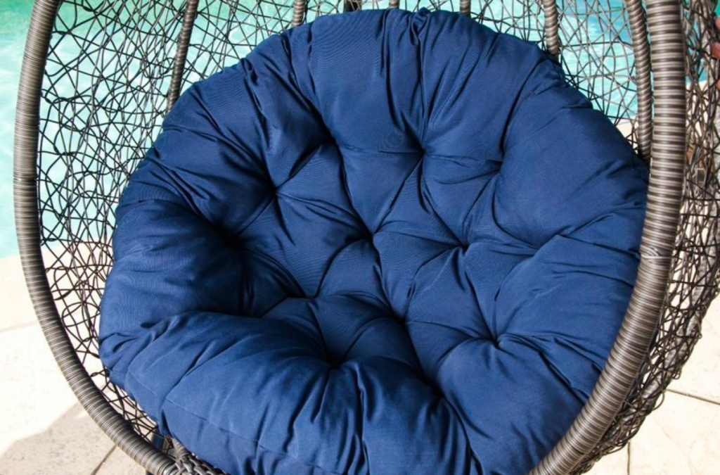 navy swing chair