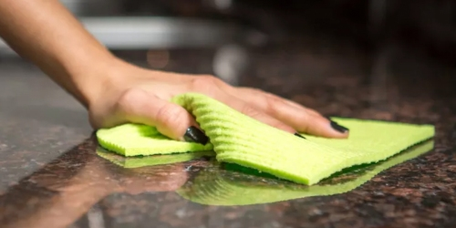 Say Goodbye to Wasteful Paper Towels & Switch to this Magic Sponge Cloth