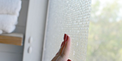 This Non-Adhesive Window Film Creates Privacy & Decor (AND It's Only $8.99!)
