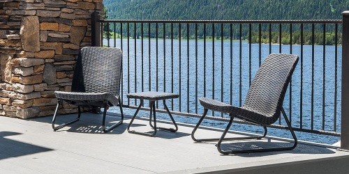 This Conversation Table & Chair Patio Set on Amazon is Durable & Comfortable – AND It's on Sale!
