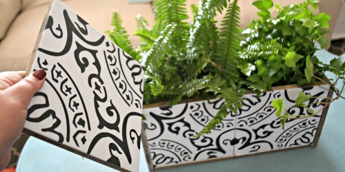Make a DIY Planter Box Out of Inexpensive Decorative Tiles