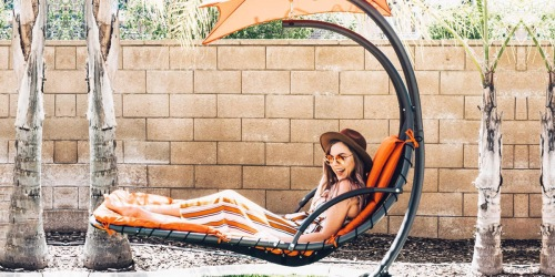 This Awesome Hanging Chaise Lounge Chair is Perfect for Relaxing – And It's Over 50% Off!