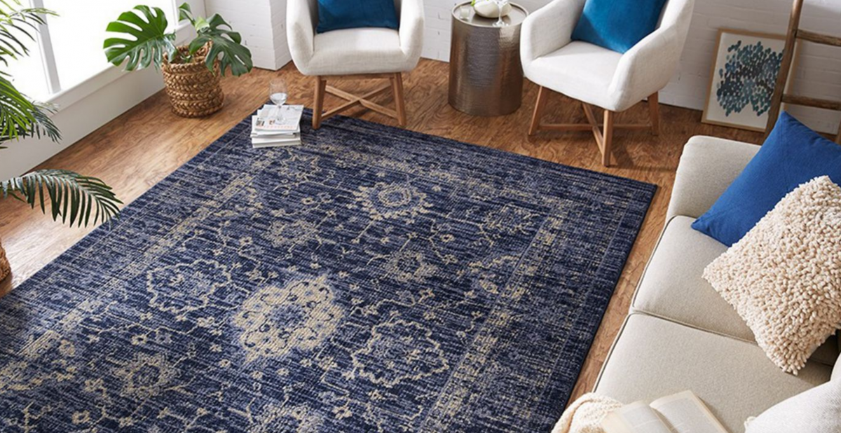 Threshold area rug