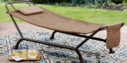 This Highly Rated Mainstays Deluxe Hammock with Stand is Only 44.99 Shipped