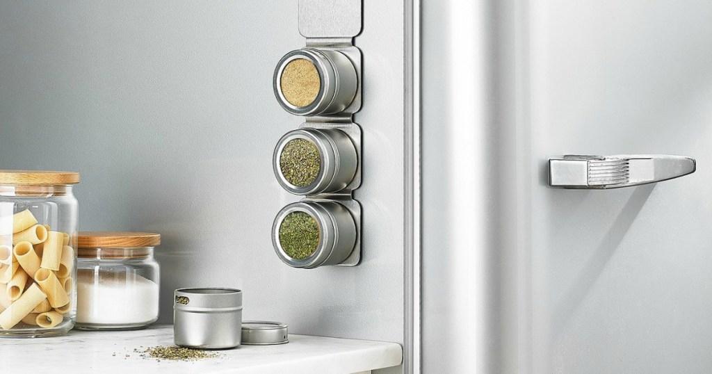 martha stewart spice rack on refrigerator