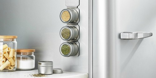 This Space-Saving Magnetic Tin Spice Rack Is On Sale for Over 60% Off at Macy's