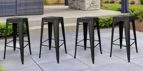 4 Stackable Metal Bar Stools Only $104.99 Shipped (Just $26.25 Per Stool!)