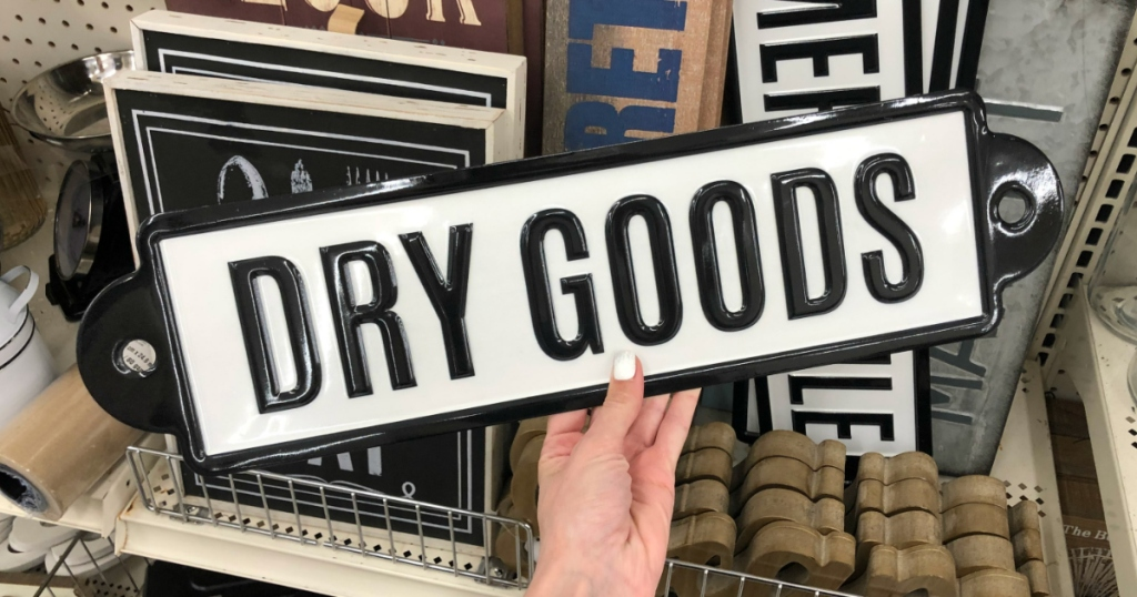 dry goods wall sign
