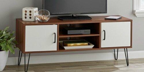Get This Mid-Century Modern TV Stand for Under $35