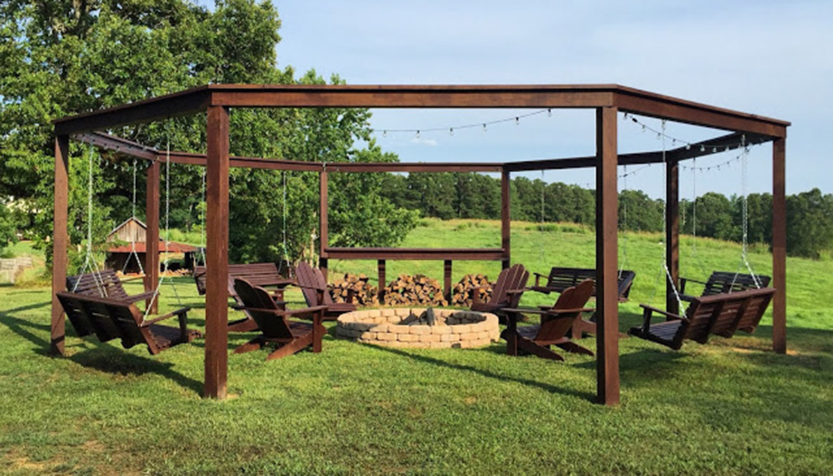 Build Diy Pergola Firepit In Backyard Grab The Plans Hip2behome