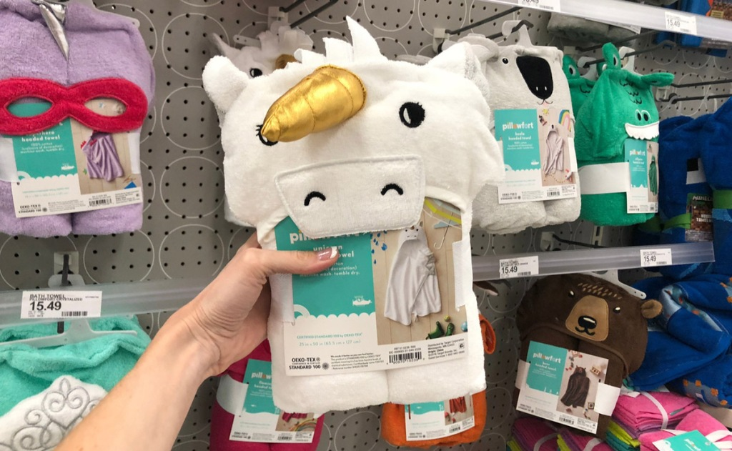Pillowfort Unicorn Hooded Towel