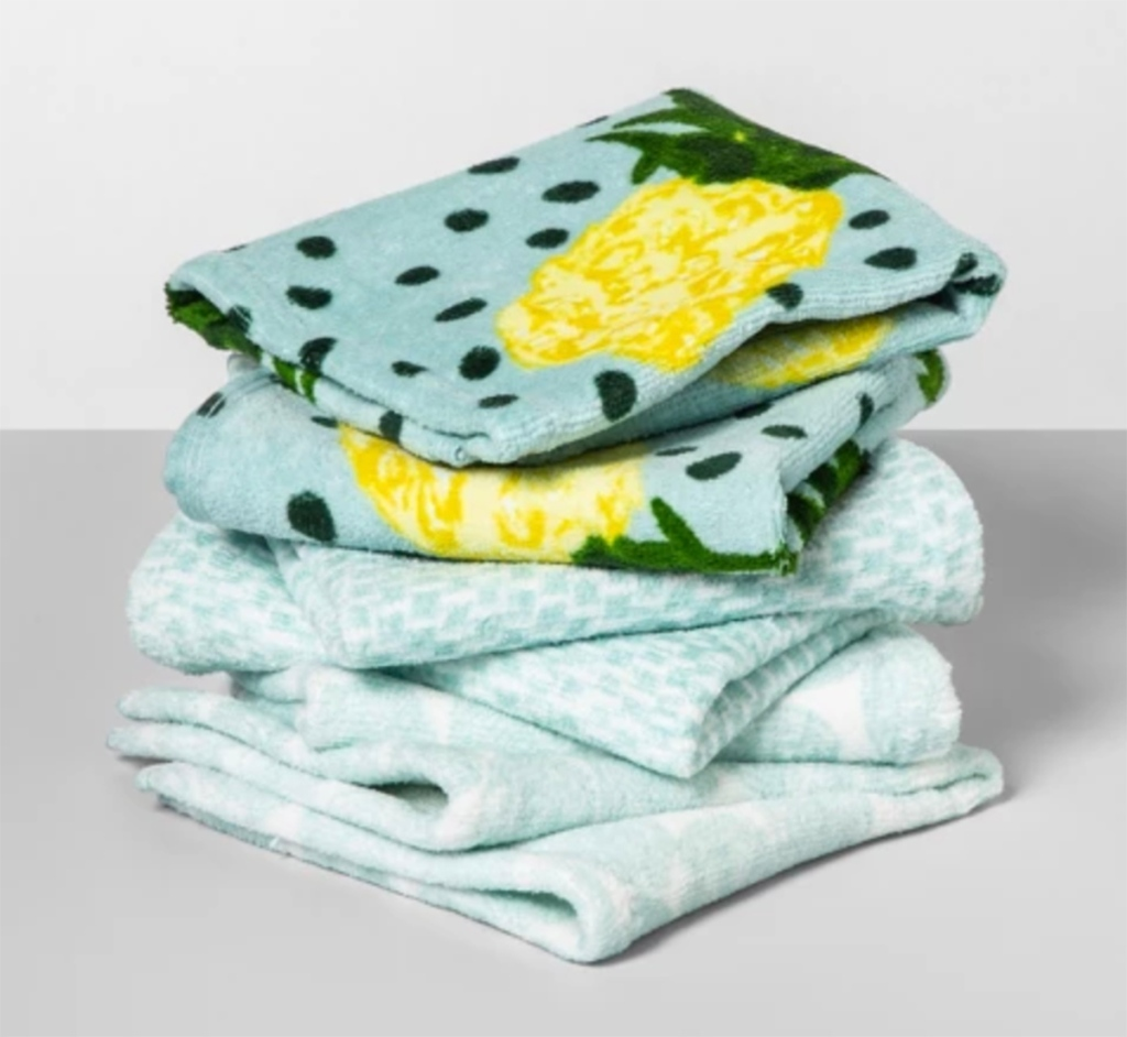 opalhouse pinapple wash cloth set from target