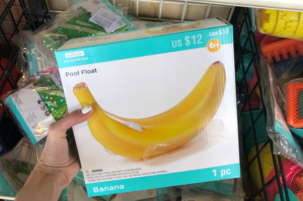banana pool floats at Michaels