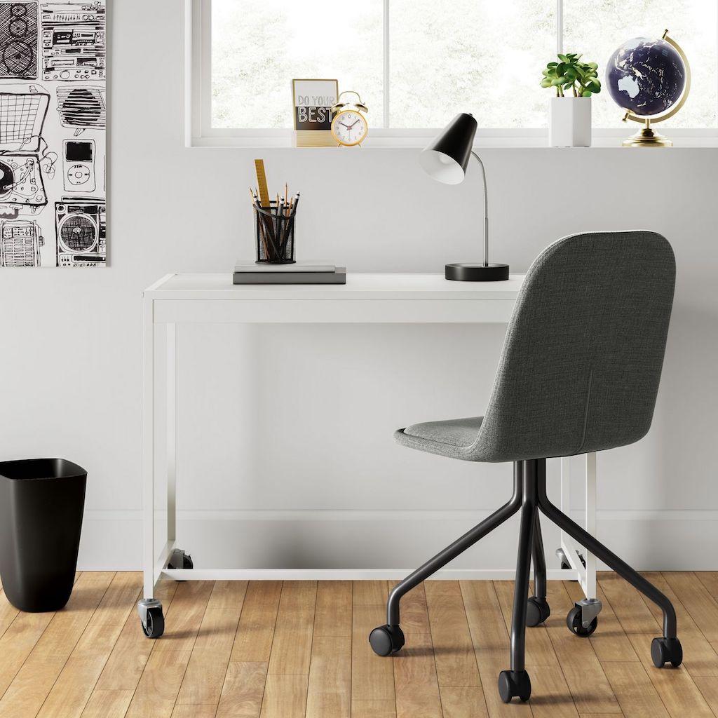 rolling desk chair in office