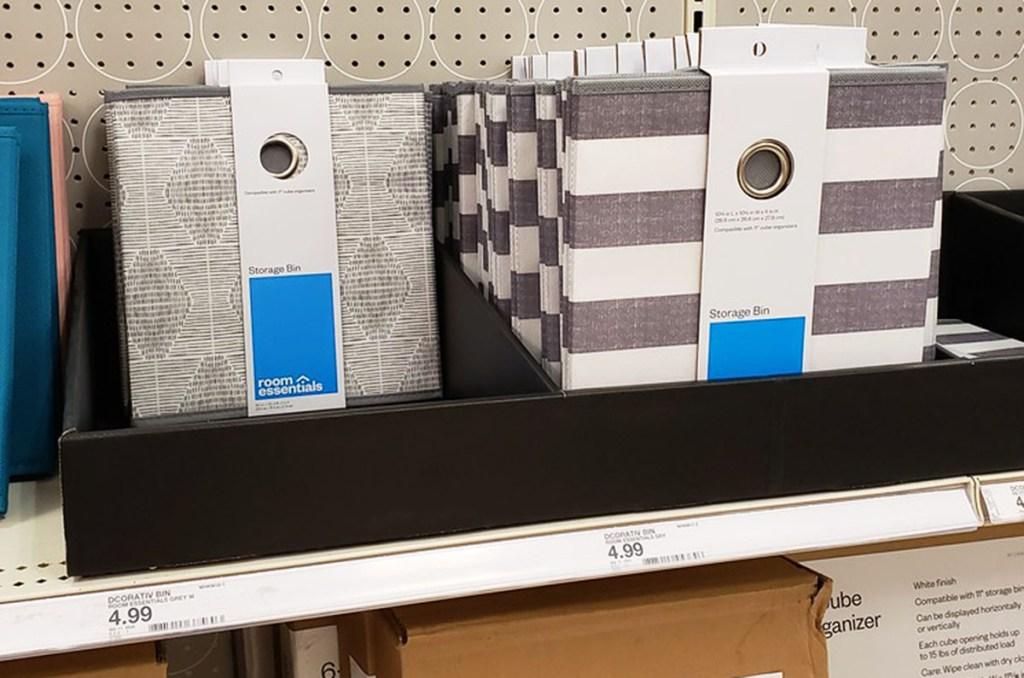 room essentials fabric storage bins