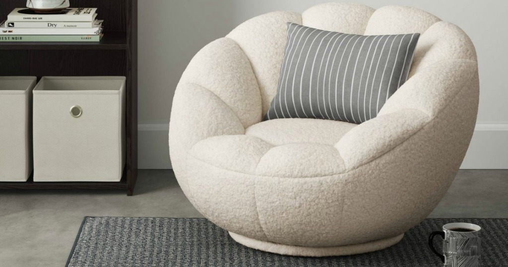 sherpa chair in living room