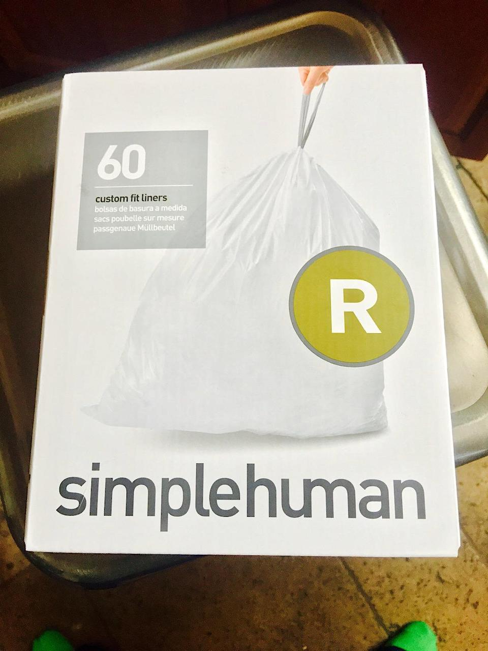 Simplehuman custom fit liners 60-count box