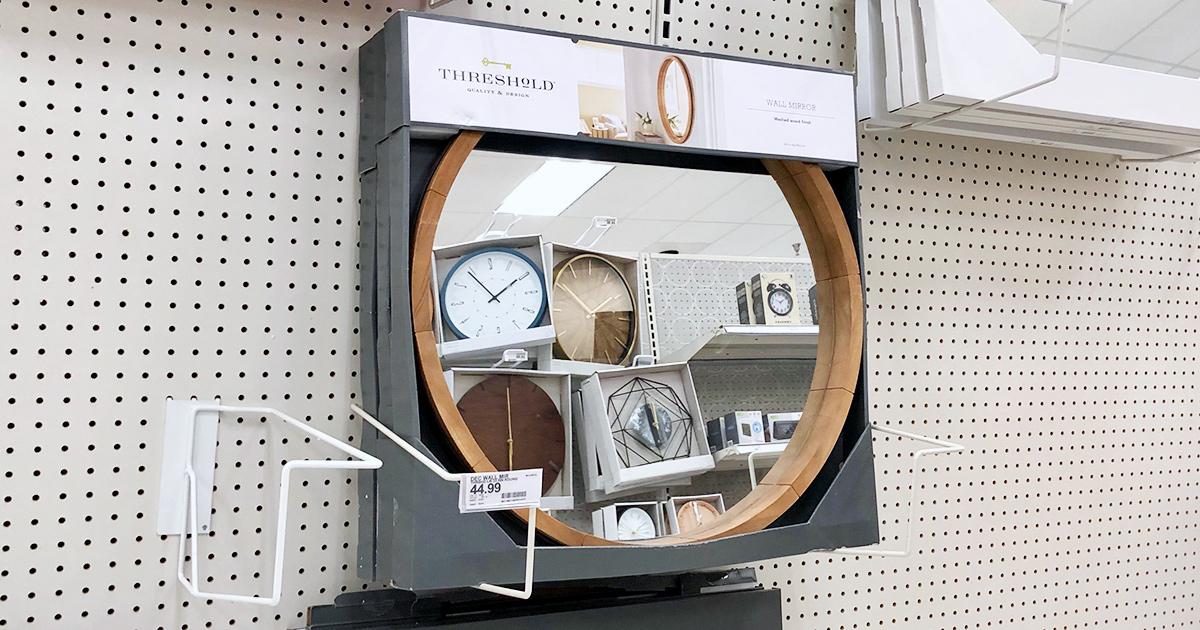 target threshold wooden frame mirror