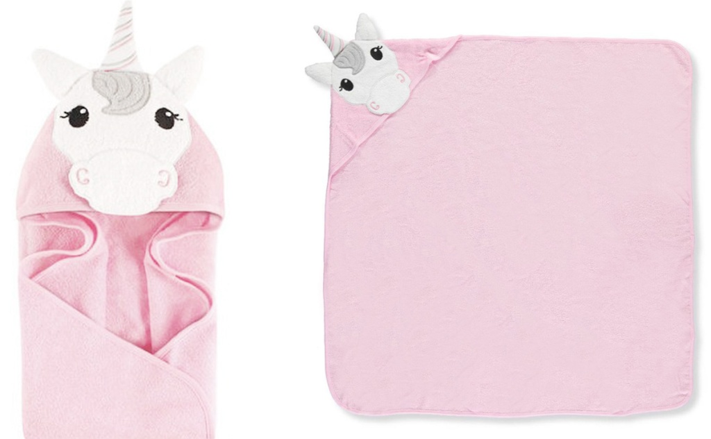 unicorn wrap towel with hood