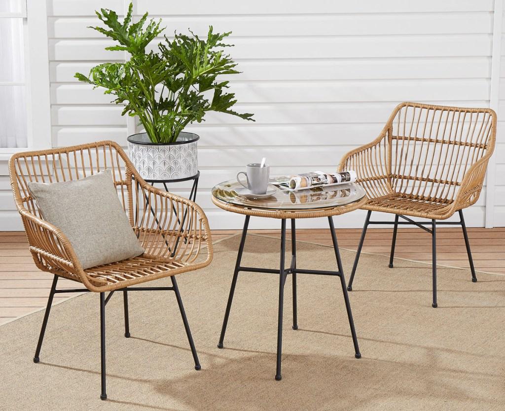 walmart chair table patio set