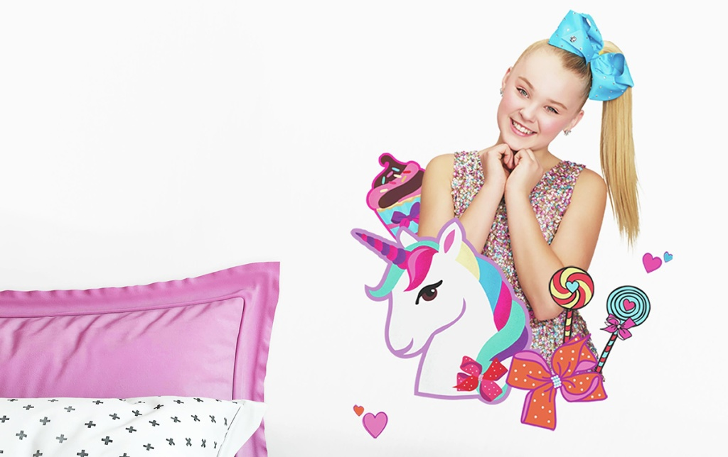 jojo siwa and unicorn wall decals