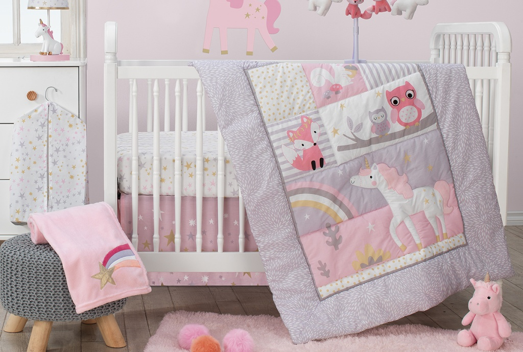 unicorn crib quilt set