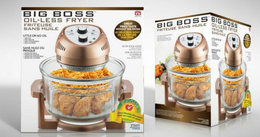 Big Boss oil-less air fryer in box
