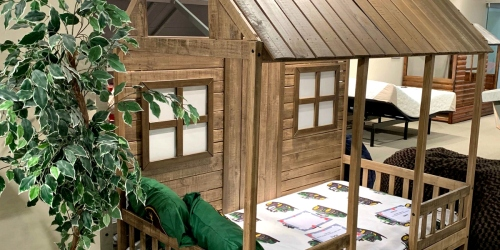 This Adorable Kids Bed Looks Like a Front Porch – And It's Even on Sale!