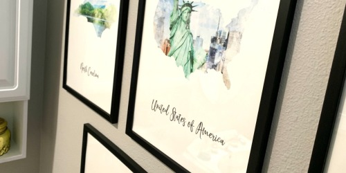 Create a Gallery Wall For Less with this Watercolor Map Canvas Prints Deal