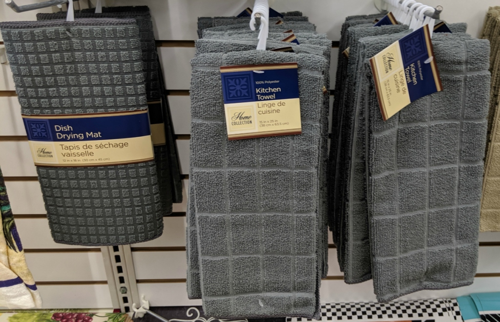 gray dish towels