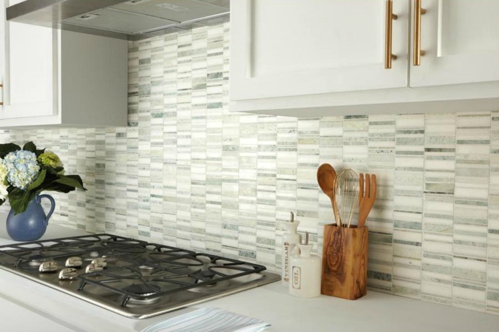 Mixed Pattern Mosaic Floor and Wall Tile