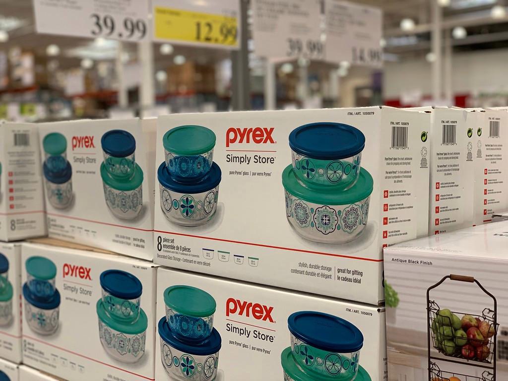 pyrex bowls in shopping cart at target