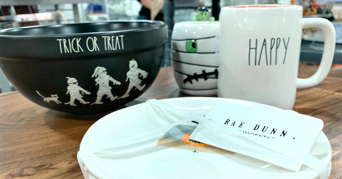 Rae Dunn Halloween decor at T.J. Maxx