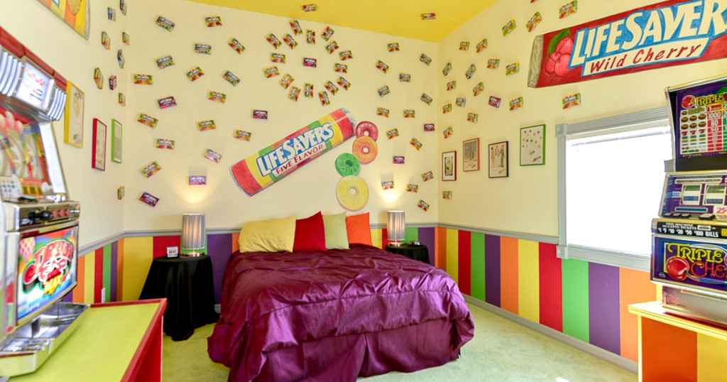 lifesaver candy themed room